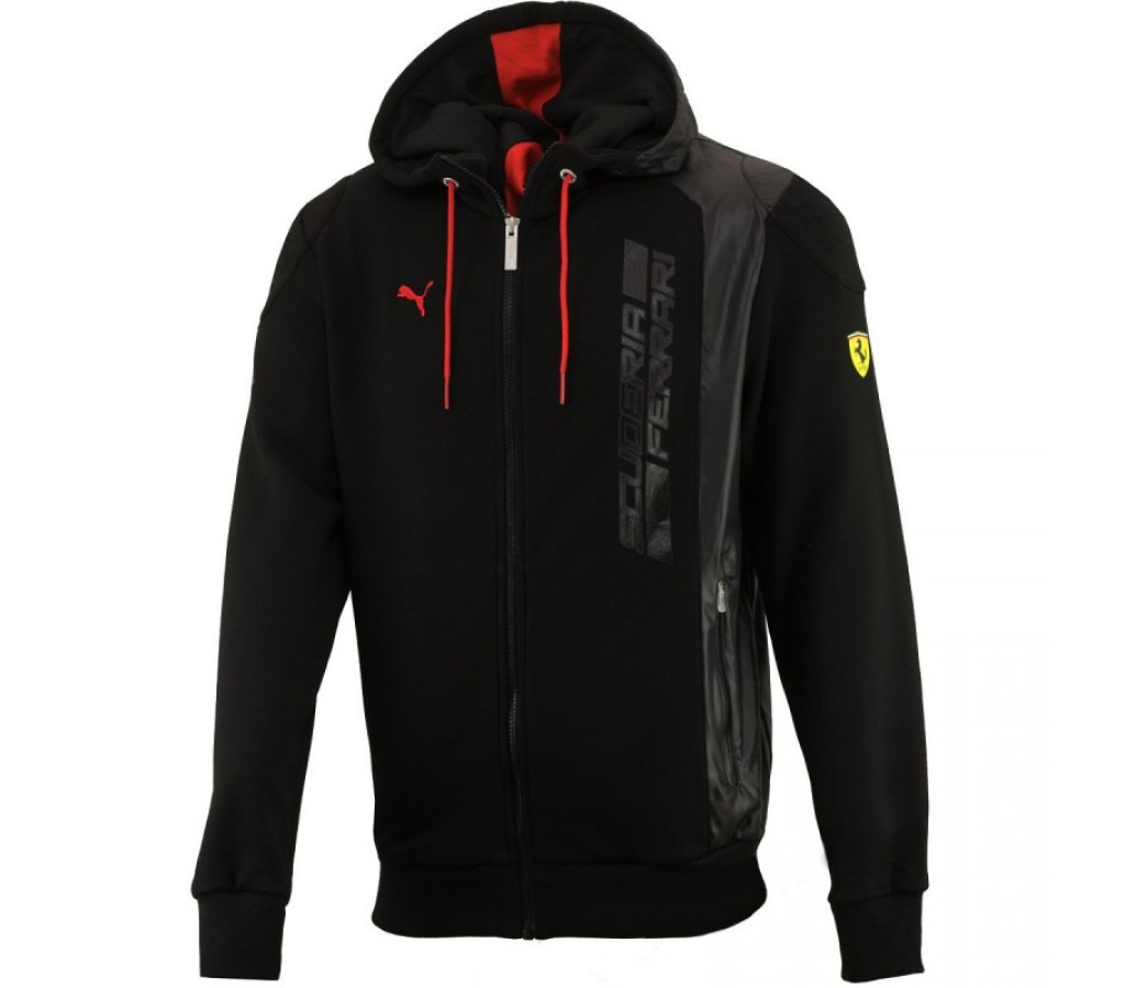 Толстовка Ferrari Hooded Sweat Jacket черная