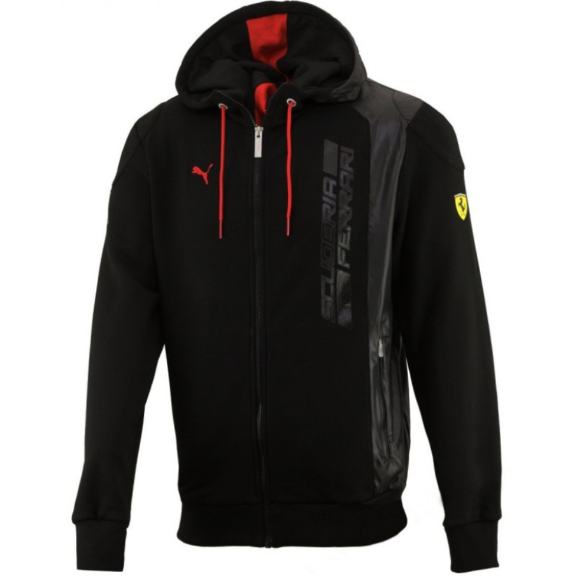 Толстовка Ferrari Hooded Sweat Jacket черная