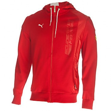 Толстовка Ferrari Hooded Sweat Jacket красная