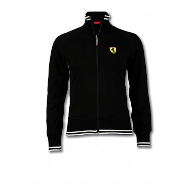 Толстовка Ferrari Zip Scudetto Woman BLACK