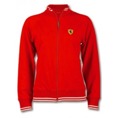 Толстовка Ferrari Zip Scudetto Woman RED