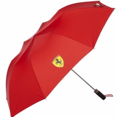 Зонт складной Ferrari Compact Umbrella красный