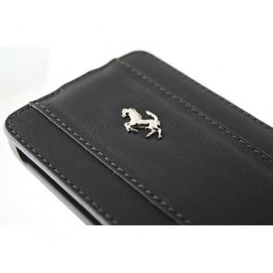 Чехол Ferrari GalaxySII Flip  BLACK