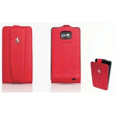 Чехол Ferrari GalaxySII Flip  RED