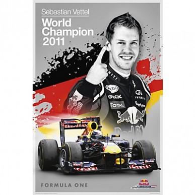 Постер Red Bull Vettel Champion