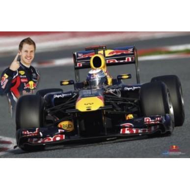 Постер Red Bull Vettel Action