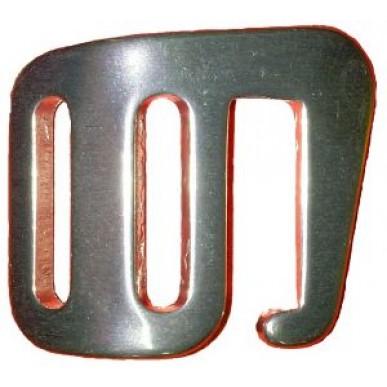 Пряжка с крючком Вертикаль алюминий