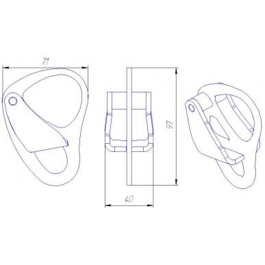 Страховочно-спусковое устройство Вертикаль Бабочка