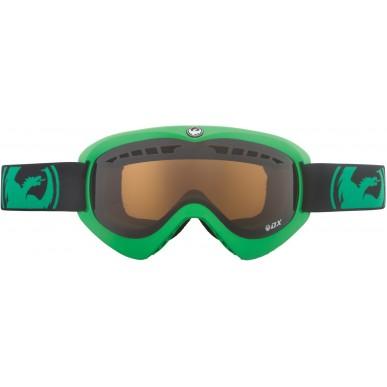 Маска горнолыжная Dragon DX, pop green/jet+amber