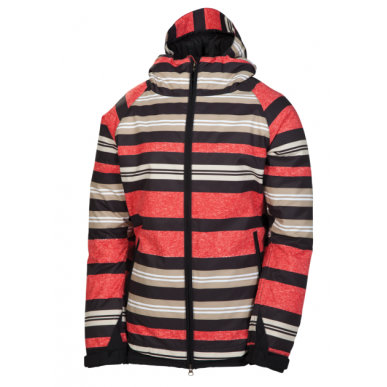 Куртка 686 Mannual Heather женская (Red Heather Stripe)