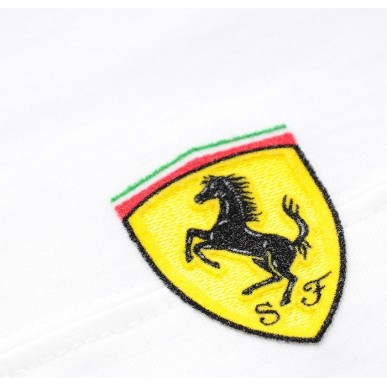 Футболка Ferrari Small Scudetto дет белая