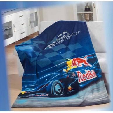 Плед флис. Red Bull Racing 130*170см т.синий