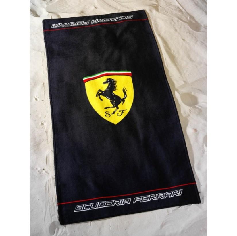 Полотенце Ferrari Logo 75*150см черный