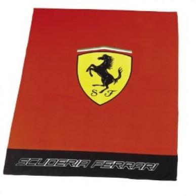 Плед флис. Ferrari Classic Logo 130*170см красный