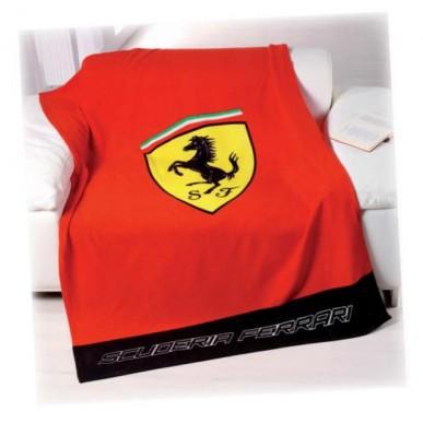 Плед флис. Ferrari Classic Logo 150*200см красный