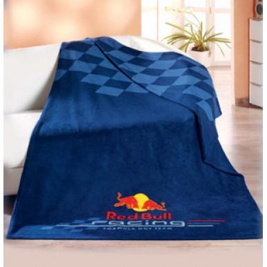 Плед флис. Red Bull Logo 130*170см т.синий