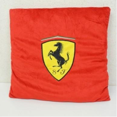 Подушка плюш. Ferrari Classic Logo 40*40см красный