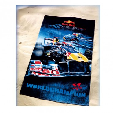 Полотенце Red Bull S.Vettel World Champion 75*150см т.синий