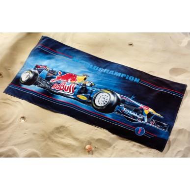 Полотенце Red Bull S.Vettel 75*150см т.синий